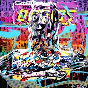 6PO by Jo Di Bona 2014 100x100 technique mixte sur toile