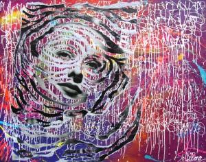 INFRAVIOLET by Jo Di Bona 2014 146x114 technique mixte sur toile
