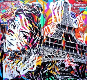 MEL IS IN PARIS by Jo Di Bona 2015 224x220 technique mixte sur toile
