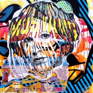 MY PRINCESS by Jo Di Bona 2014 100x100 technique mixte sur toile