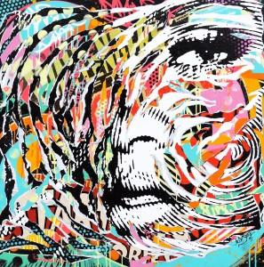 MY UMBRELLA by Jo Di Bona 2015 100x100 technique mixte sur toile