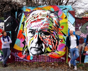 Mur hommage à Pierre Soulages, GALERIE AMARRAGE, Saint-Ouen