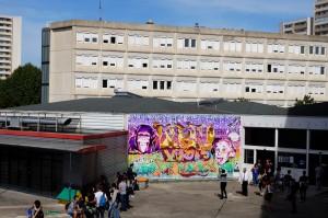 Mur réalisé à la fac de Créteil pour le festival UPAINT 2