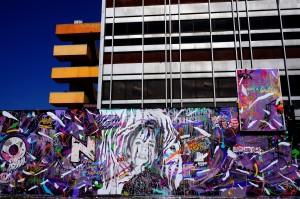 Mur réalisé avec Kanos pour le Festival Rue des Arts 3, Aulnay-sous-Bois 3