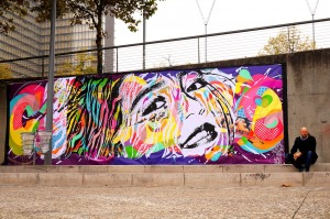 Mur réalisé pour le Festival 13 A QUAI, Paris