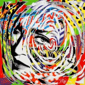 POP MADONNA by Jo Di Bona 2015 100x100 technique mixte sur toile