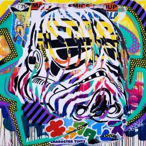 STORMTROOPER by Jo Di Bona 2014 100x100 technique mixte sur toile