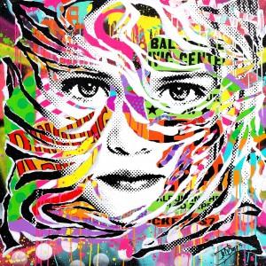 TEEN YEARS GONE by Jo Di Bona 2015 100x100 technique mixte sur toile