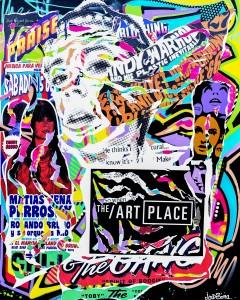 THE ART PLACE by Jo Di Bona 2014 technique mixte sur toile 114x146