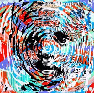RIVIERA by Jo Di Bona 2016 100x100 technique mixte sur toile