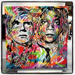 Festival Urban Art Fair, Andy & Basquiat, by Jo Di Bona, photo by Lezard_graphic