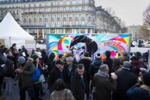 L'Abbé Pierre, 10 ans déjà ! Place de la République Paris by Jo Di Bona photo by Alex Gallosi