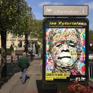 Affiche Futuriales, Aulnay sous bois by Jo Di Bona