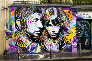 Mur maison de Serge GAINSBOURG by Jo Di Bona, photo by Alex Gallosi MARS 2017