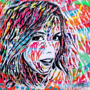 TRUE LOVE by Jo Di Bona 2017 100x100 technique mixte sur toile