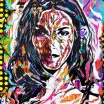 HYPERBALLAD by Jo Di Bona 2018 120x140 technique mixte sur toile