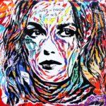 KEIRA KNIGHTLEY CHANEL by Jo Di Bona 2018 100x100 technique mixte sur toile