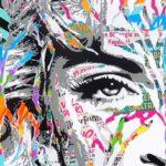 X-STATIC PROCESS by Jo Di Bona 2018 50 x 160 technique mixte sur toile